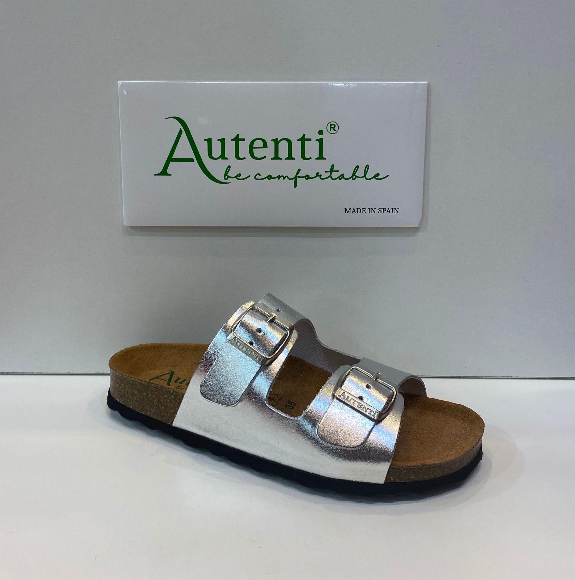 Sandàlia de dona, de la marca Autenti, plantillas anatòmica de suro premsat, sola de microporós antilliscant 30€ www.calzadosllinas.es