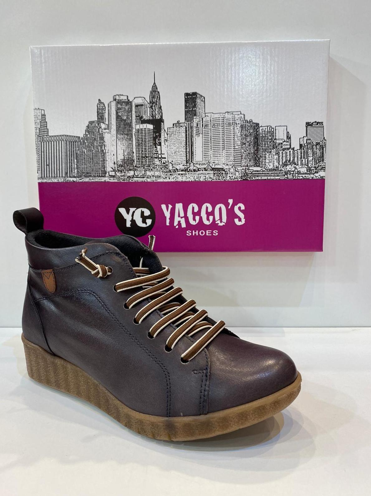 Botí de dona, de la marca Yacco's, ample especial, amb plantilla anatòmica de làtex, adaptable a plantilles ortopèdiques, sola de crepe 63€