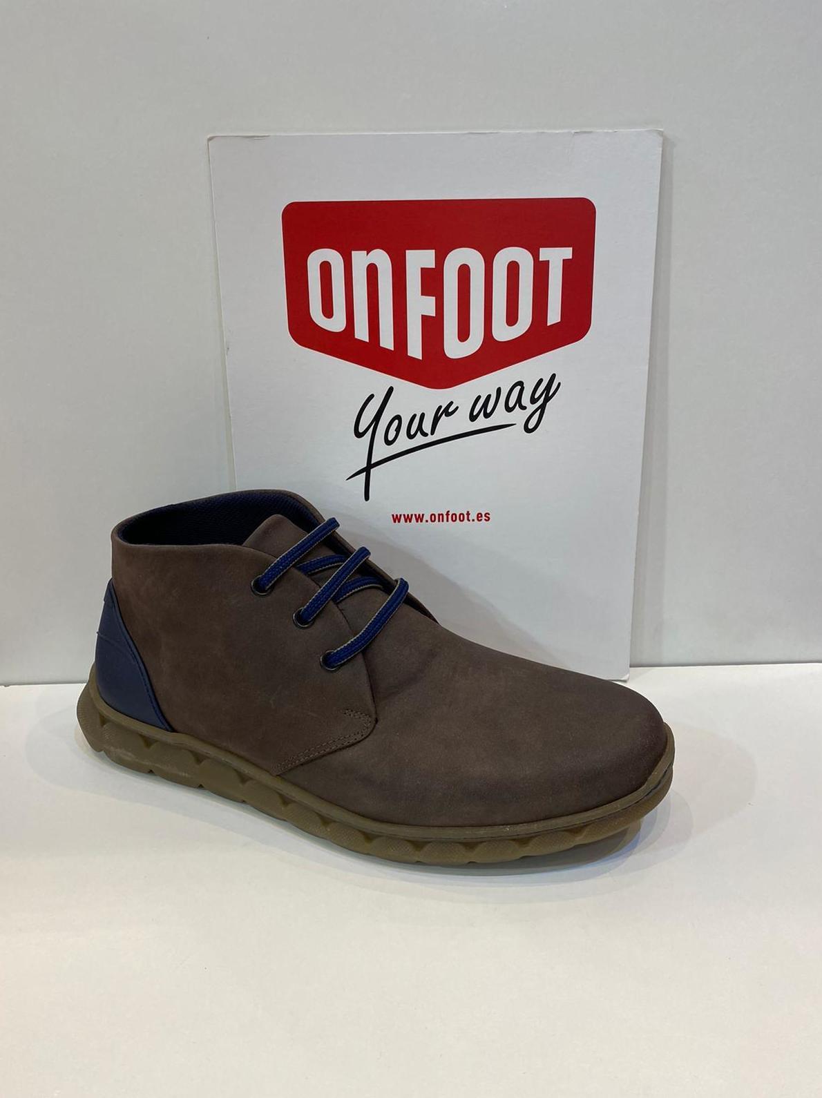 Botí d'home, de la marca On Foot, ample especial, adaptable a plantilles ortopèdiques, sola de làtex amb càmeras d'aire 77€