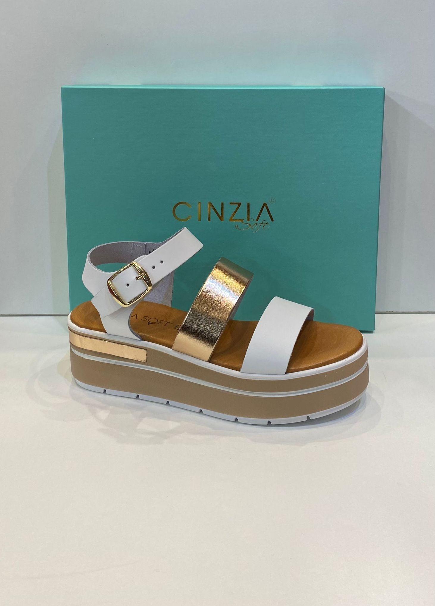 Sandàlia de dona, de la marca Cinzia Soft, amb plantilla de viscoelàstica i 6 cm de plataforma de politilè antilliscant 74€