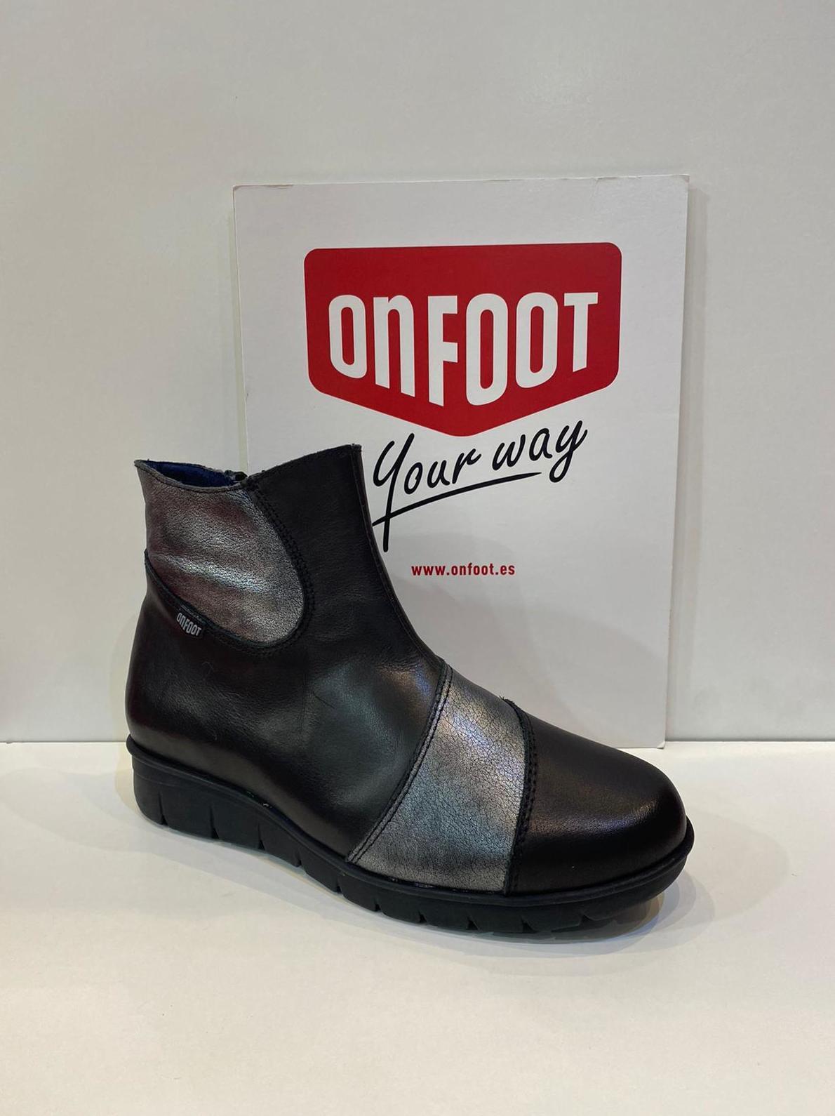 Botí de dona, de la marca On Foot, ample especial, adaptable a plantilles ortopèdiques, sola de làtex amb càmera d'aire 73€