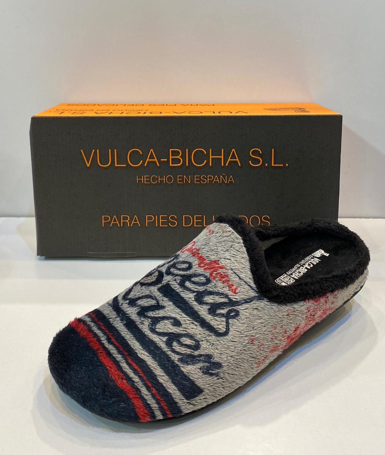 Espardenya d'home de la marca Vulca-Bicha, amb plantilla extraible i sola de goma 21.50€