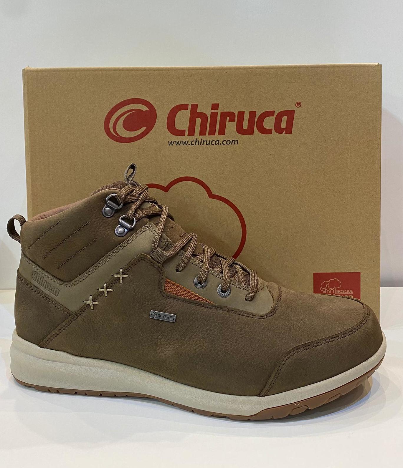 Botí d'home, de la marca Chiruca, de nobuck hidrofugat, ample especial, adaptable a plantilles ortopèdiques, amb Gore-Tex 127.50€