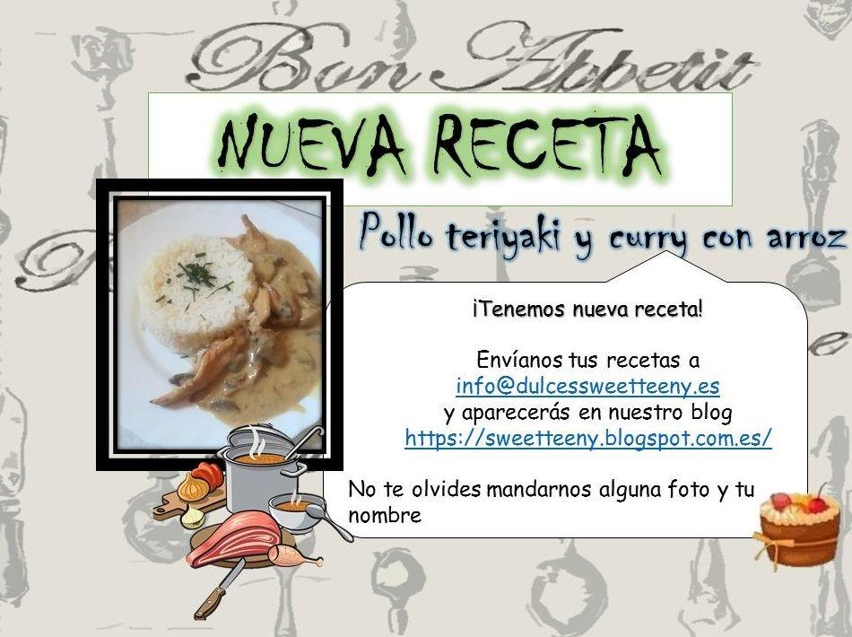 #recetas #enviatureceta #polloteriyaki #polloconcurry ,#polloconarroz