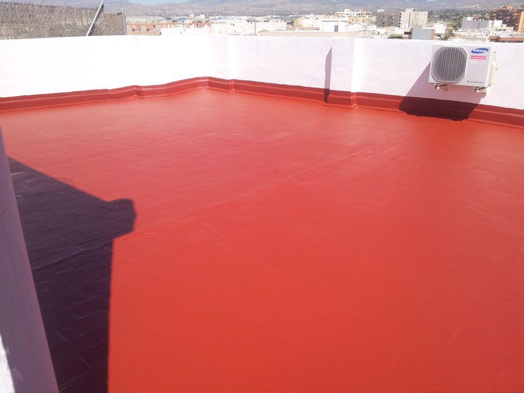impermeabilizacion de terraza y muretas con caucho liquido y armadura de fibra de vidreo