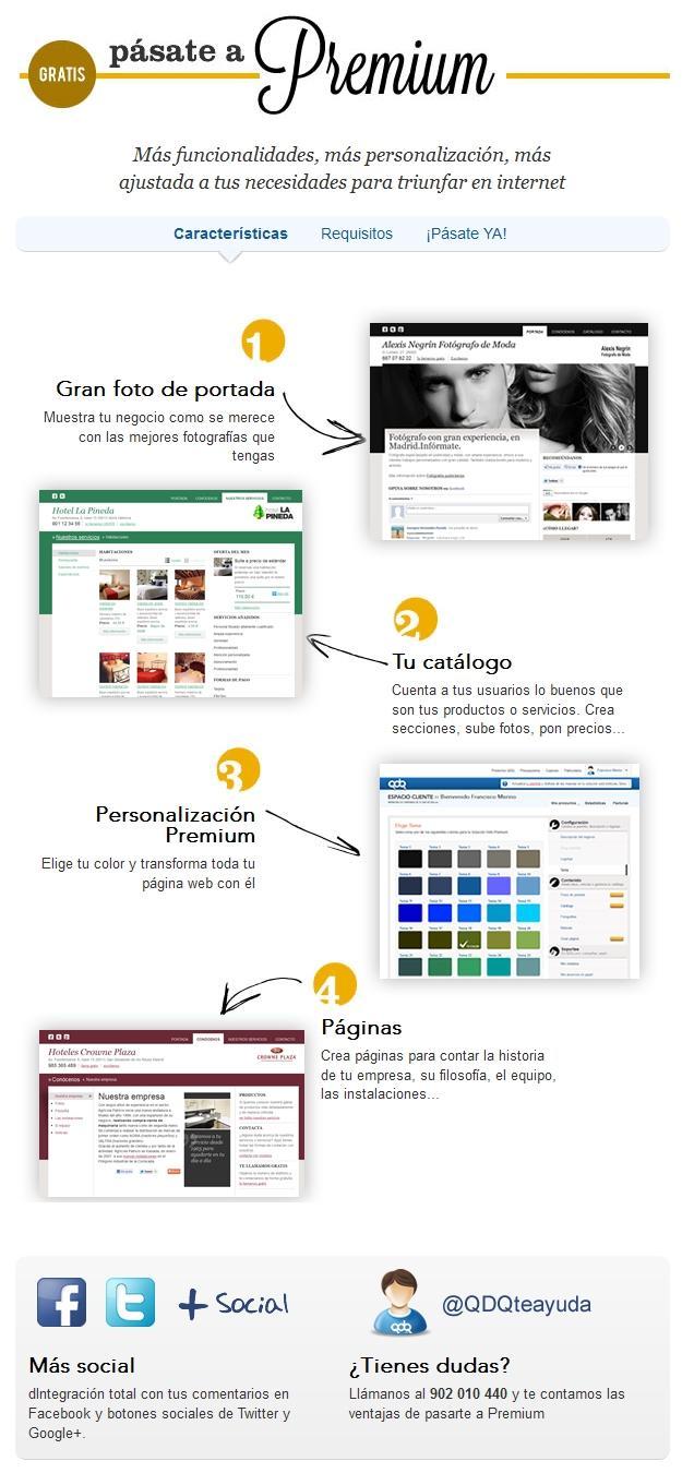 Nueva Página Web Premium: el sitio web para las pymes