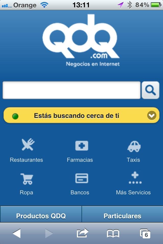 Nueva versión móvil de QDQ.com adaptada a tus necesidades.