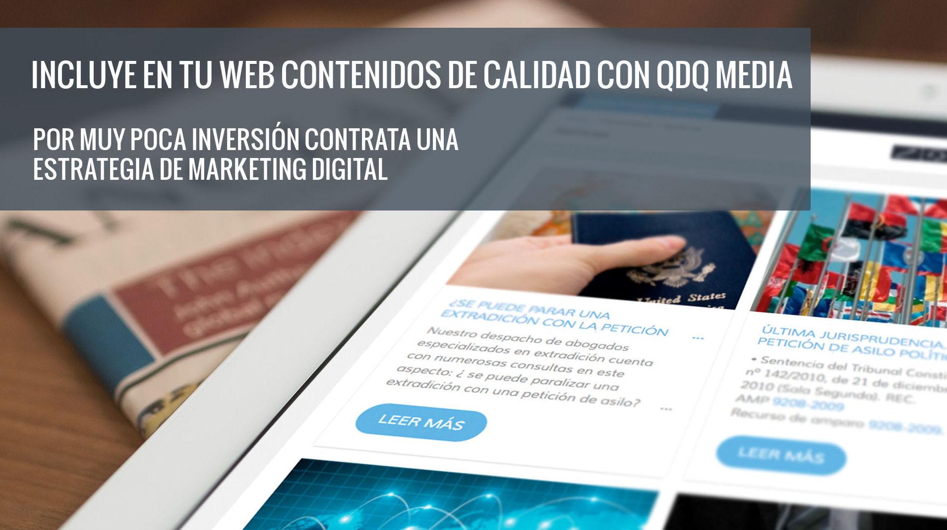 Incluye en tu web contenidos de calidad con QDQ media