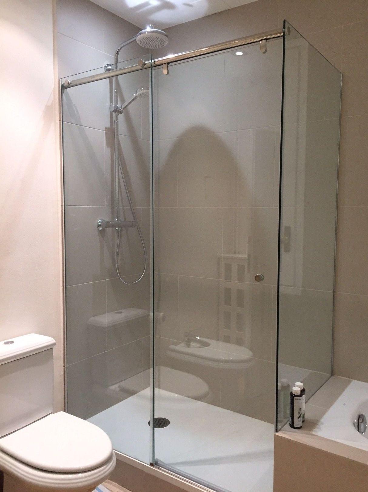 Mampara de ducha. Vidrio templado de 8 mm transparente