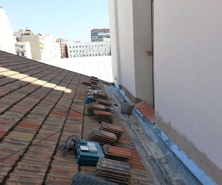 Trabajos de reformas de cubiertas en Madrid