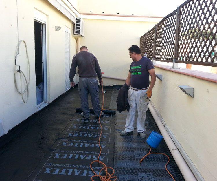 Trabajos de impermeabilización de terrazas en Madrid