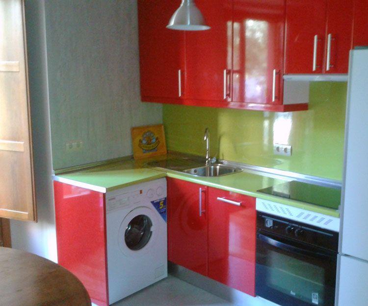 Cocina con microcemento en Madrid