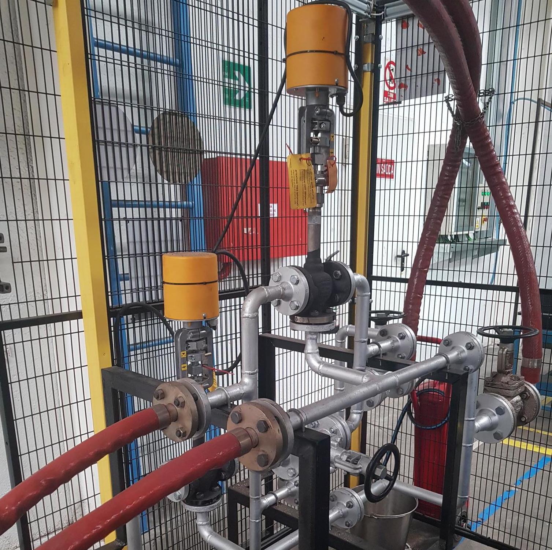 grupo válvulas tres vías de aceite térmico
