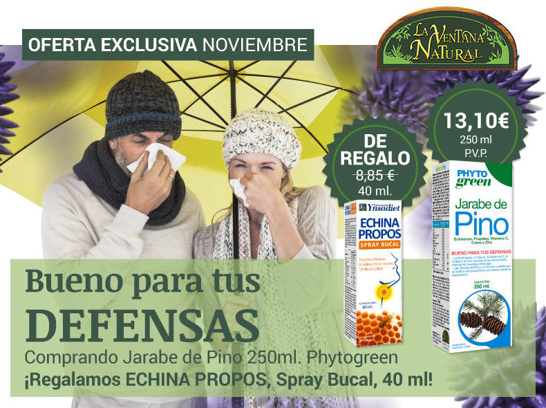 OFERTA NOVIEMBRE - Jarabe de Pino Phytogreen + Echina Propos Srpray Bucal