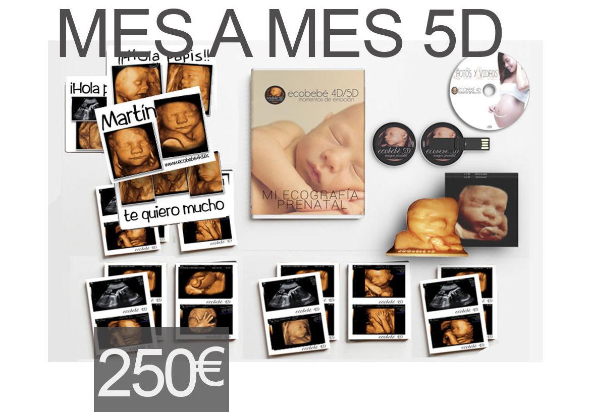 sesión 5D Mes a Mes: Productos y servicios de Ecobebé 5D