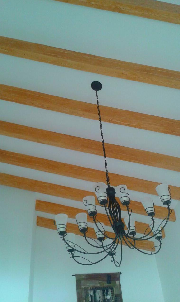 imitacion madera sobre vigas de hormigon