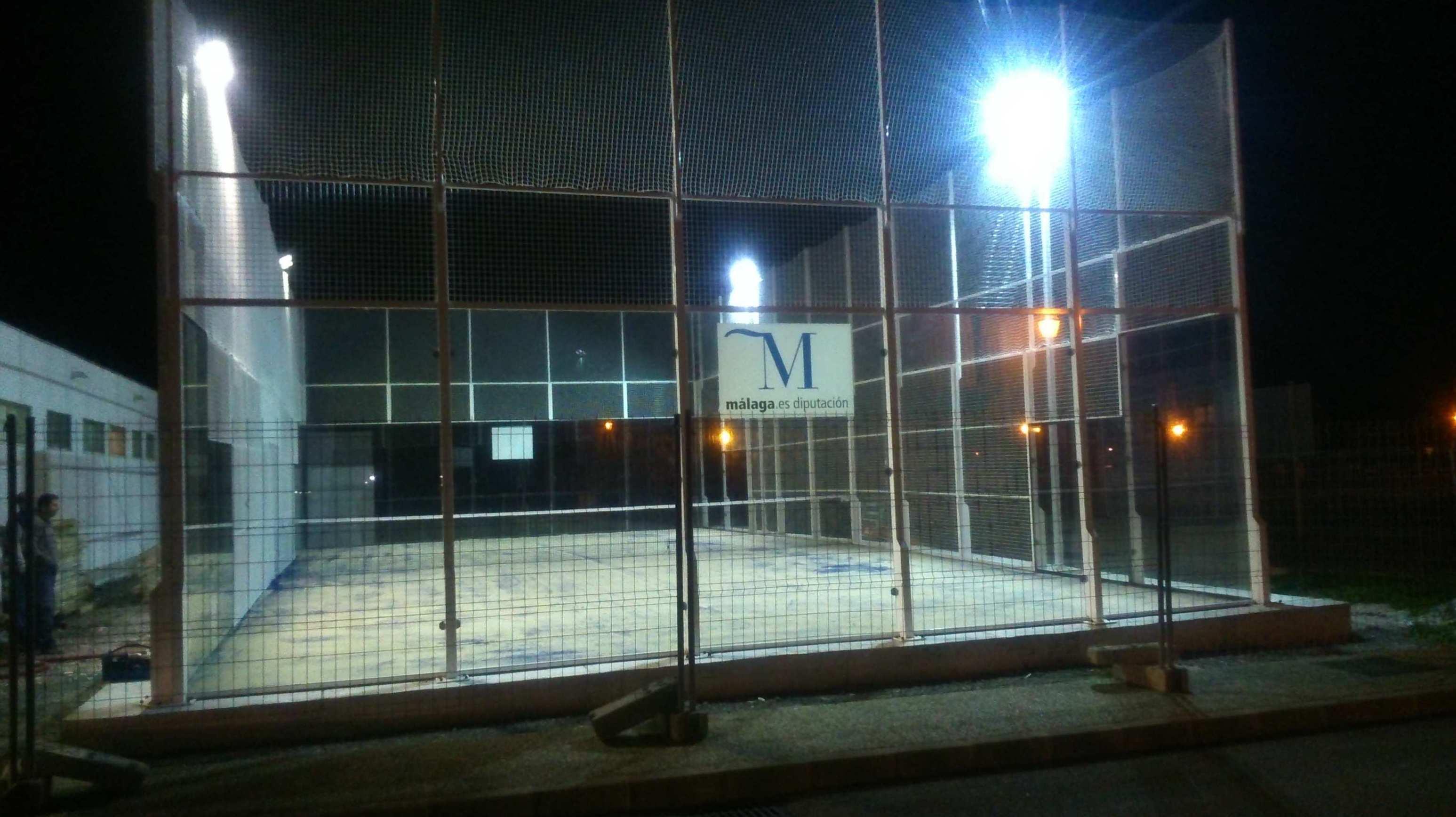 Iluminación de espacios deportivos en Málaga