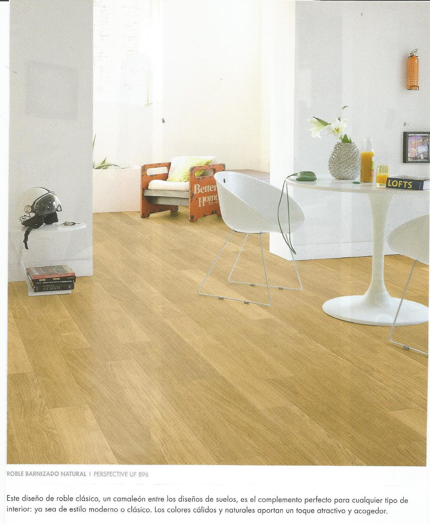 Quick-Step Perspective UF-896. Roble Barnizado Natural.