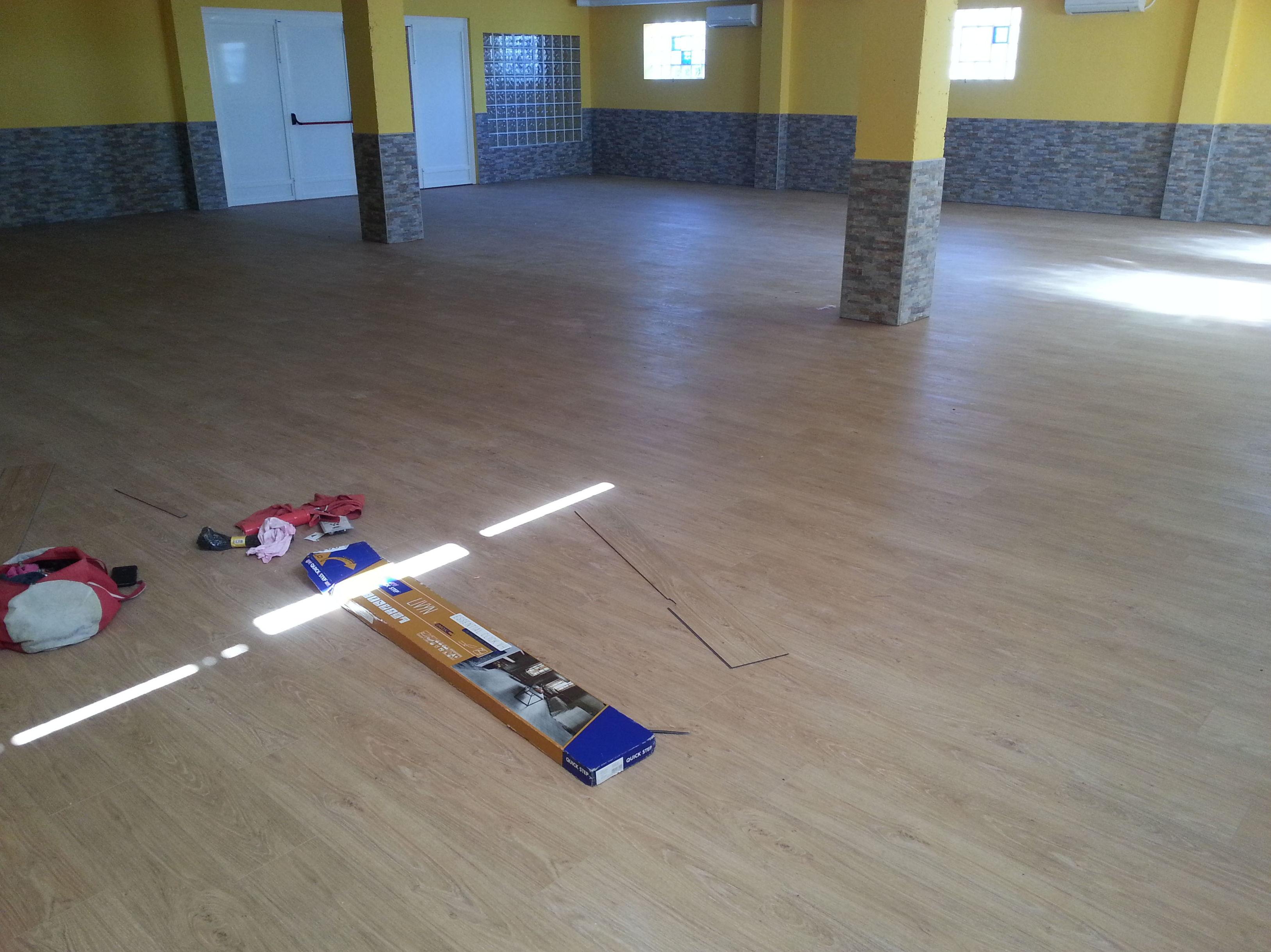 Obras en el Centro Síndrome de Down Jaén - Pavimento Vinílico QS Livyn