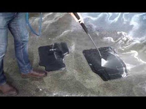 Limpieza alfombrillas goma
