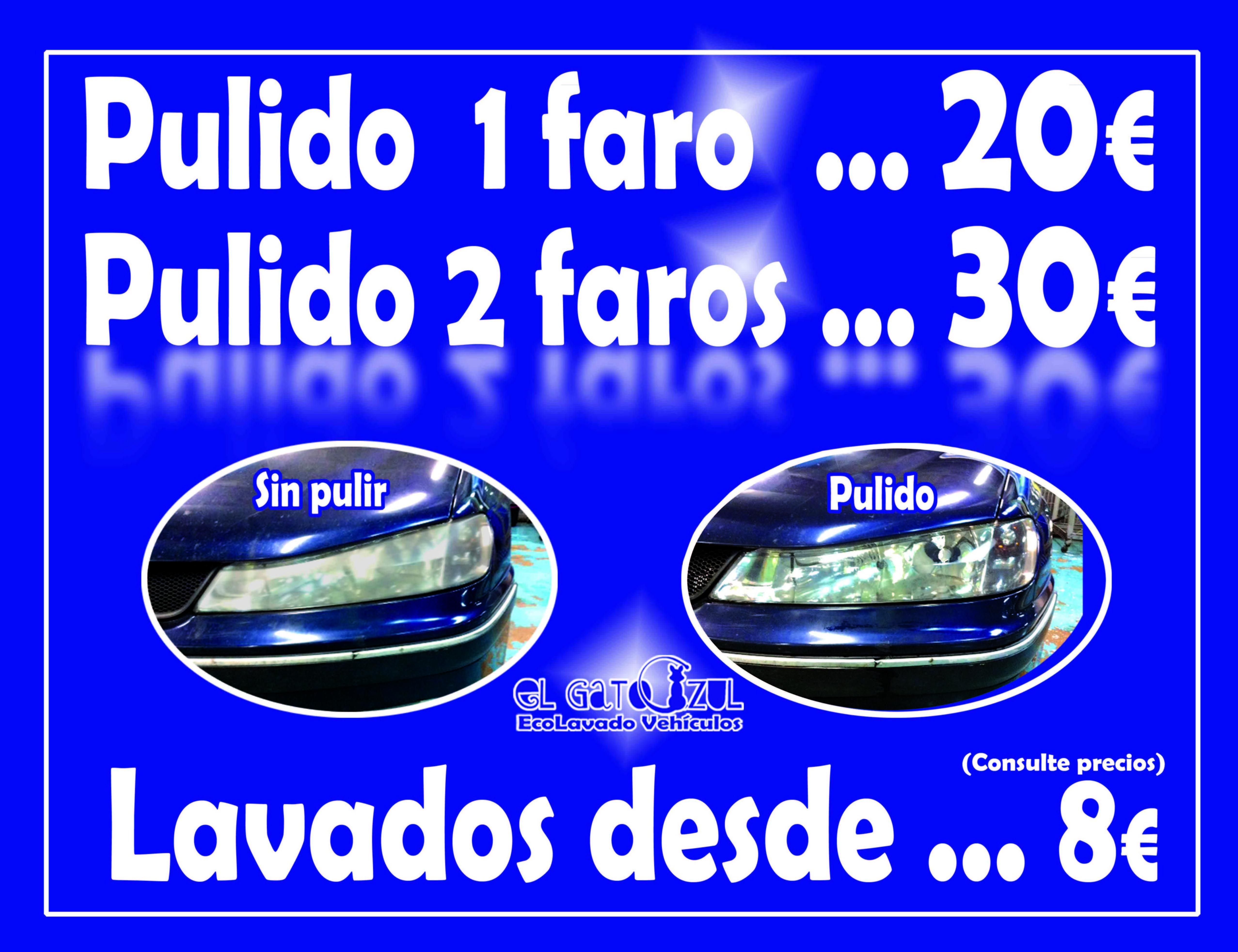 Pulido de Faros: Servicios y Precios de El Gato Azul Ecolavado Vehículos