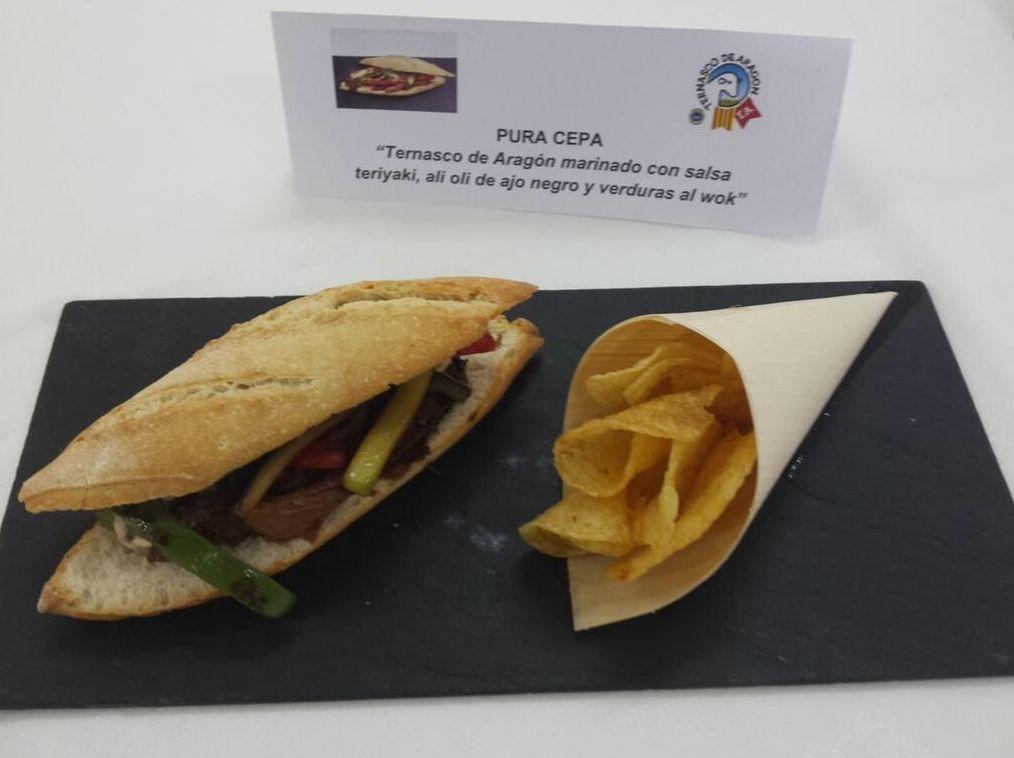 Premio al segundo mejor bocadillo de ternasco de Aragón.