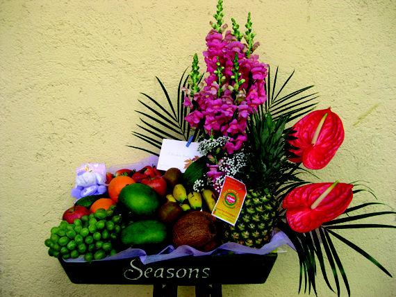 Cesta de frutas variadas...