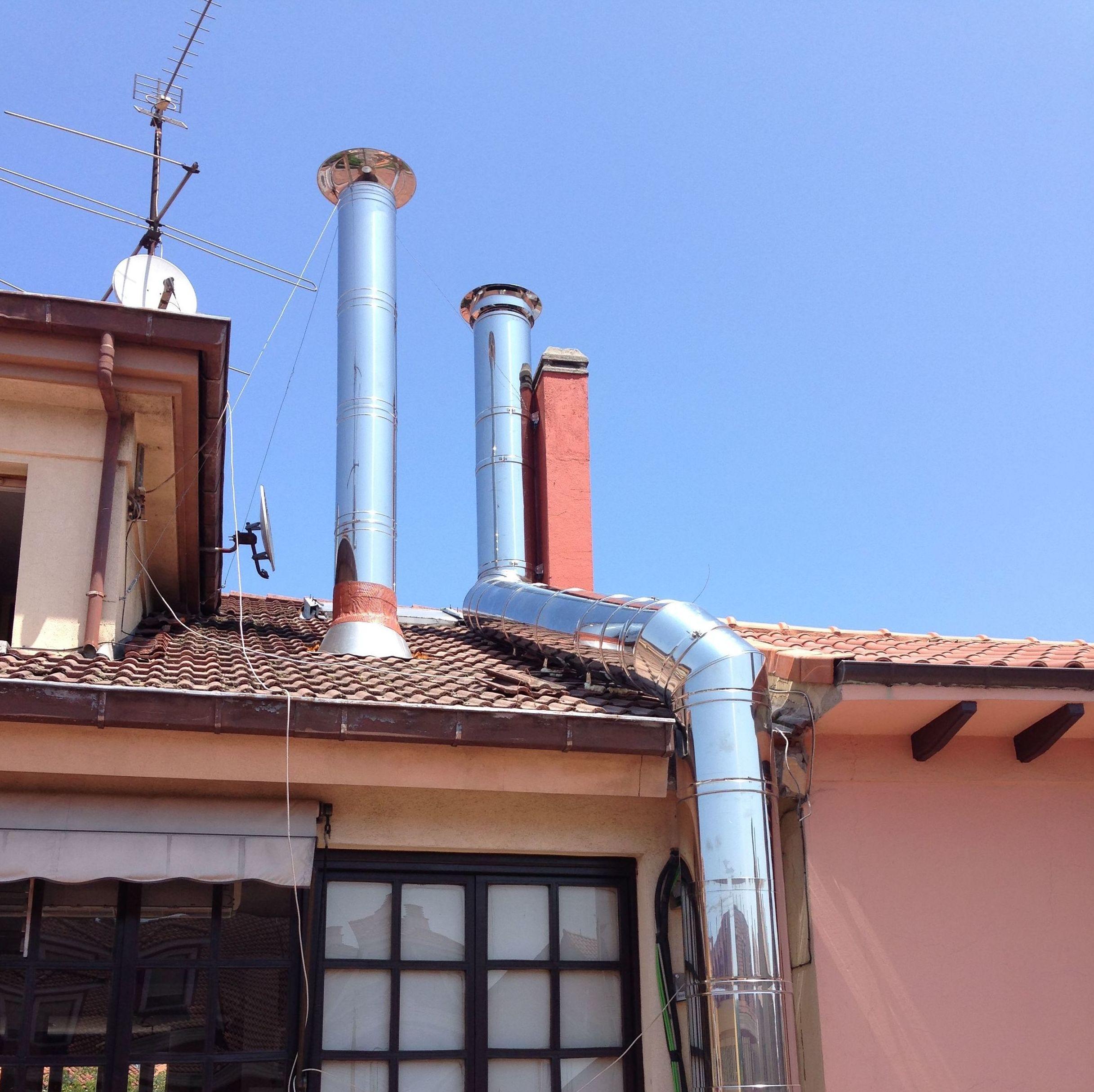 Instalación de chimeneas metálicas en Asturias