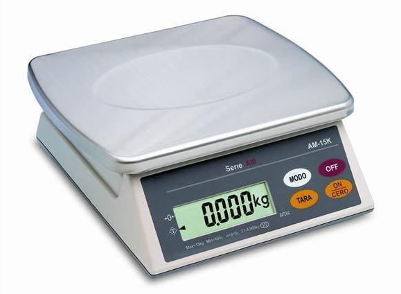 Pequeñas plataformas con indicador de peso electrónico