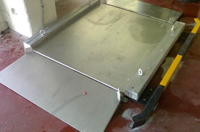 Plataformas pesaje de sobresuelo bajo perfil