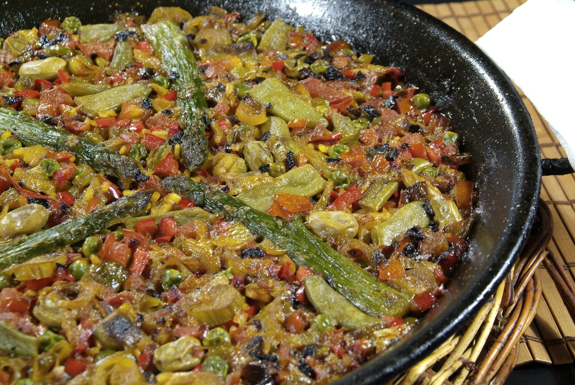 Paella Vegetal en Lorret de Mar - Restaurante Cantarradas