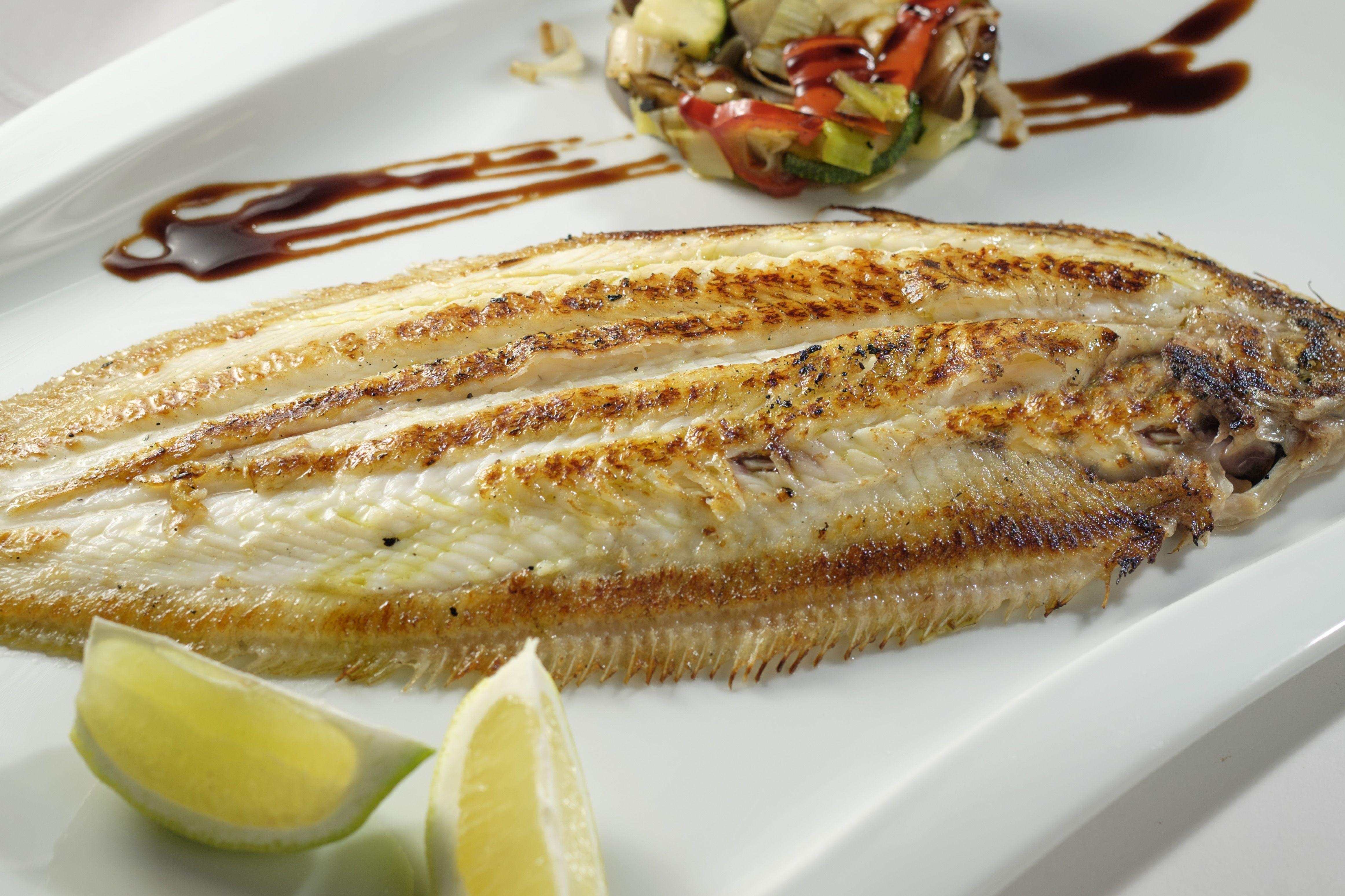 Lenguado a la plancha en Lorret de Mar - Restaurante Cantarradas