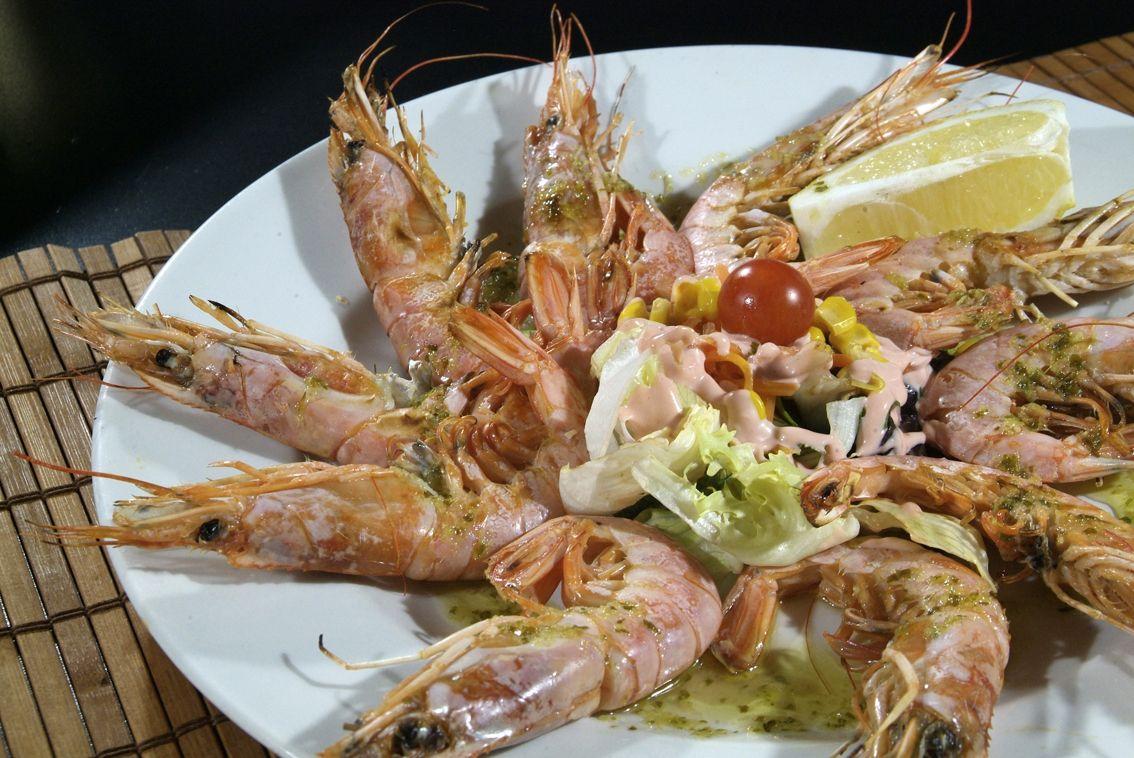 Gamba Llagostinera en Lorret de Mar - Restaurante Cantarradas