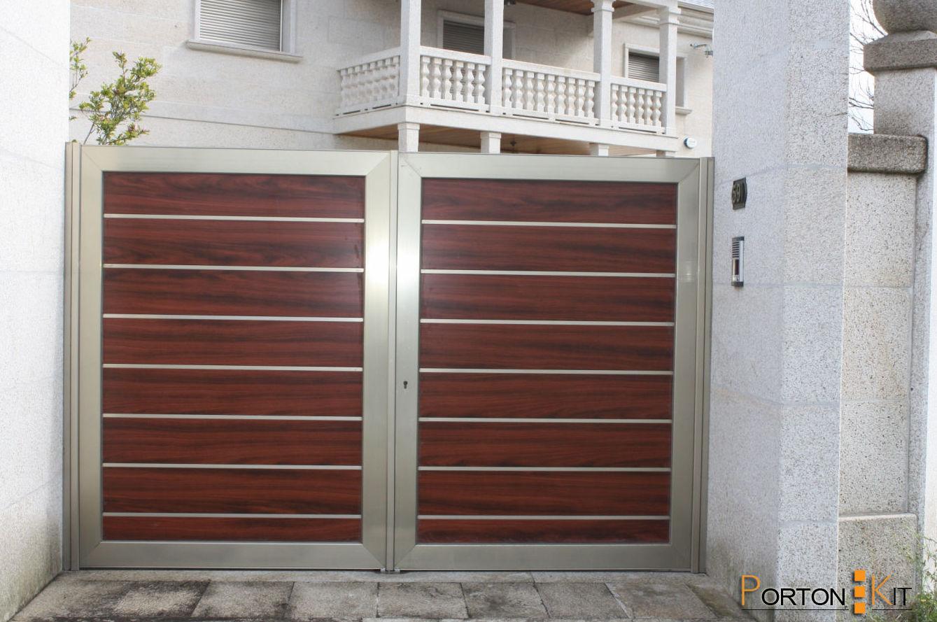 Puertas garaje de aluminio