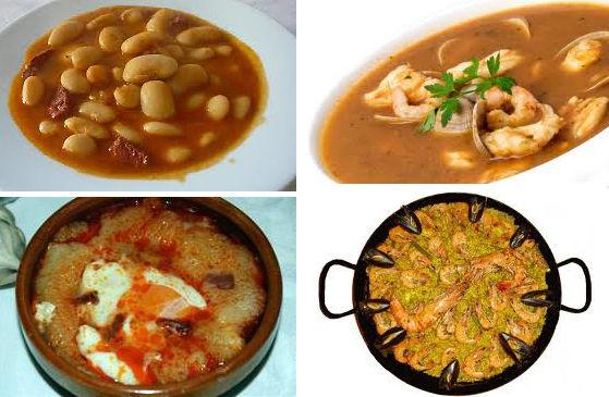 Restaurante El Caserón, primeros platos tradicionales