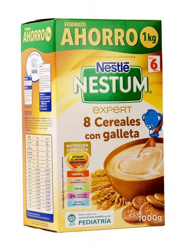 Papilla Nestum Expert 8 Cereales con Miel: Productos de Parafarmacia Centro