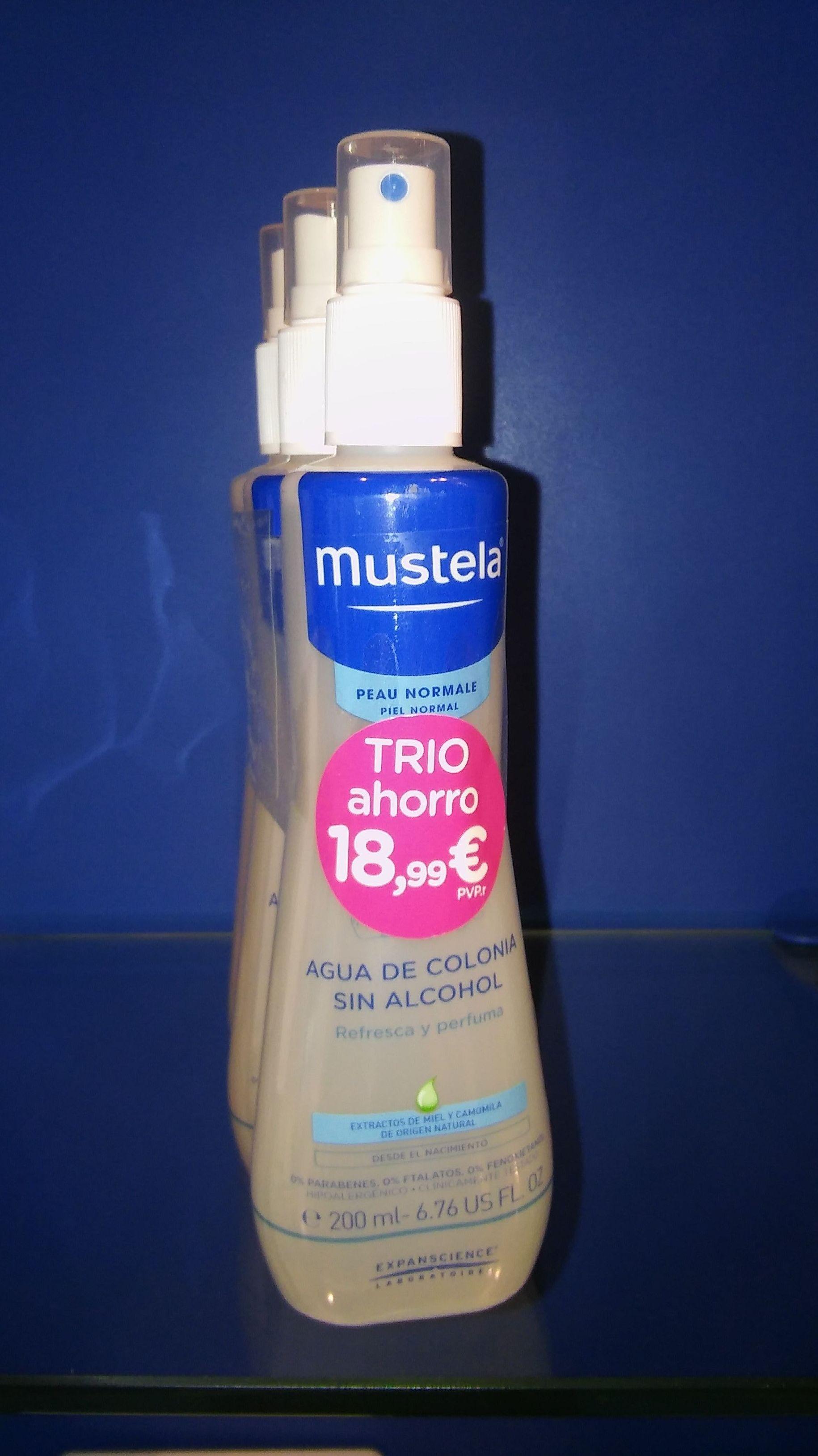 MUSTELA AGUA DE COLONIA PACK TRIO AHORRO 200MLX3 UD