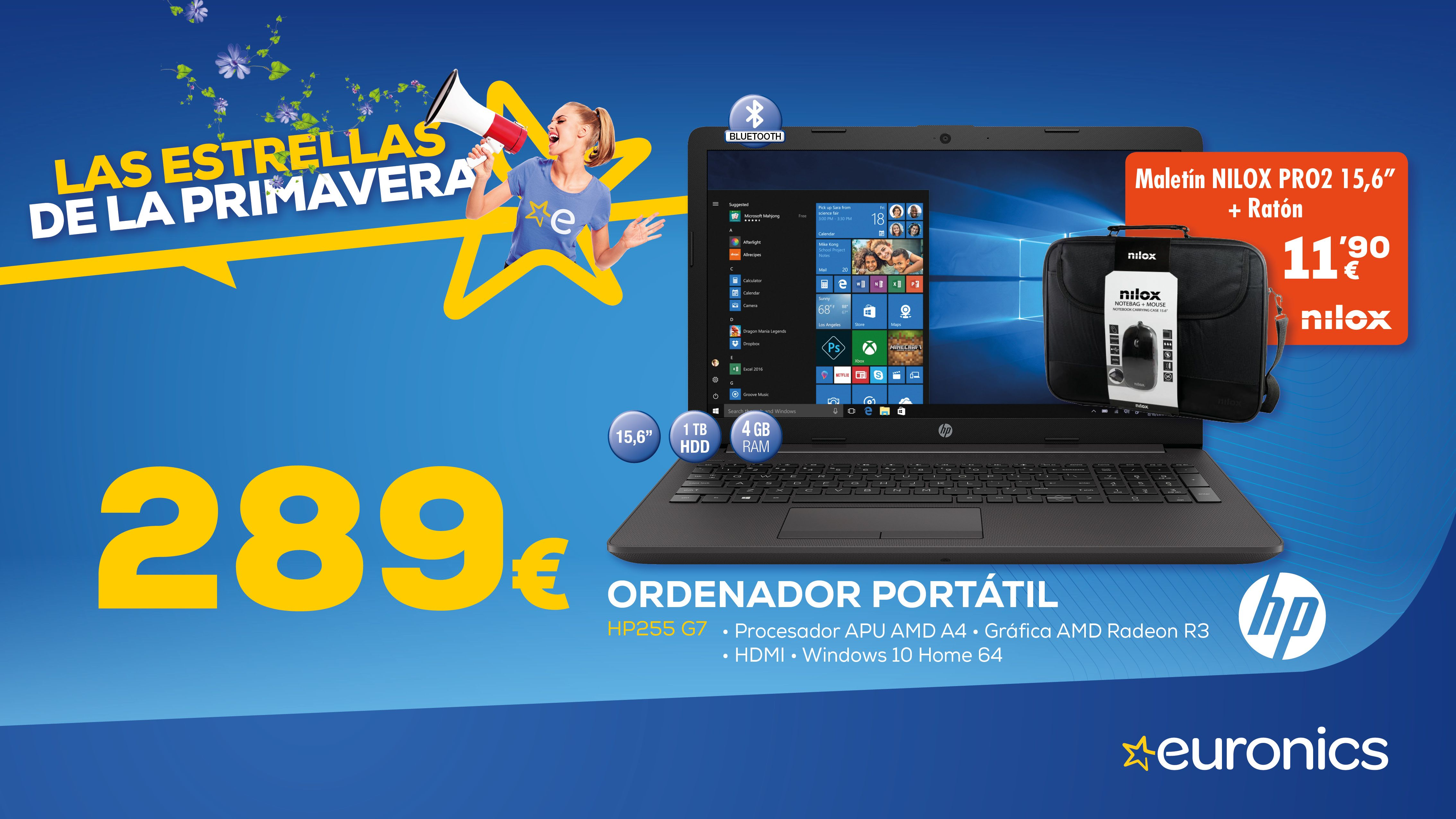 Ordenador portátil HP 289€