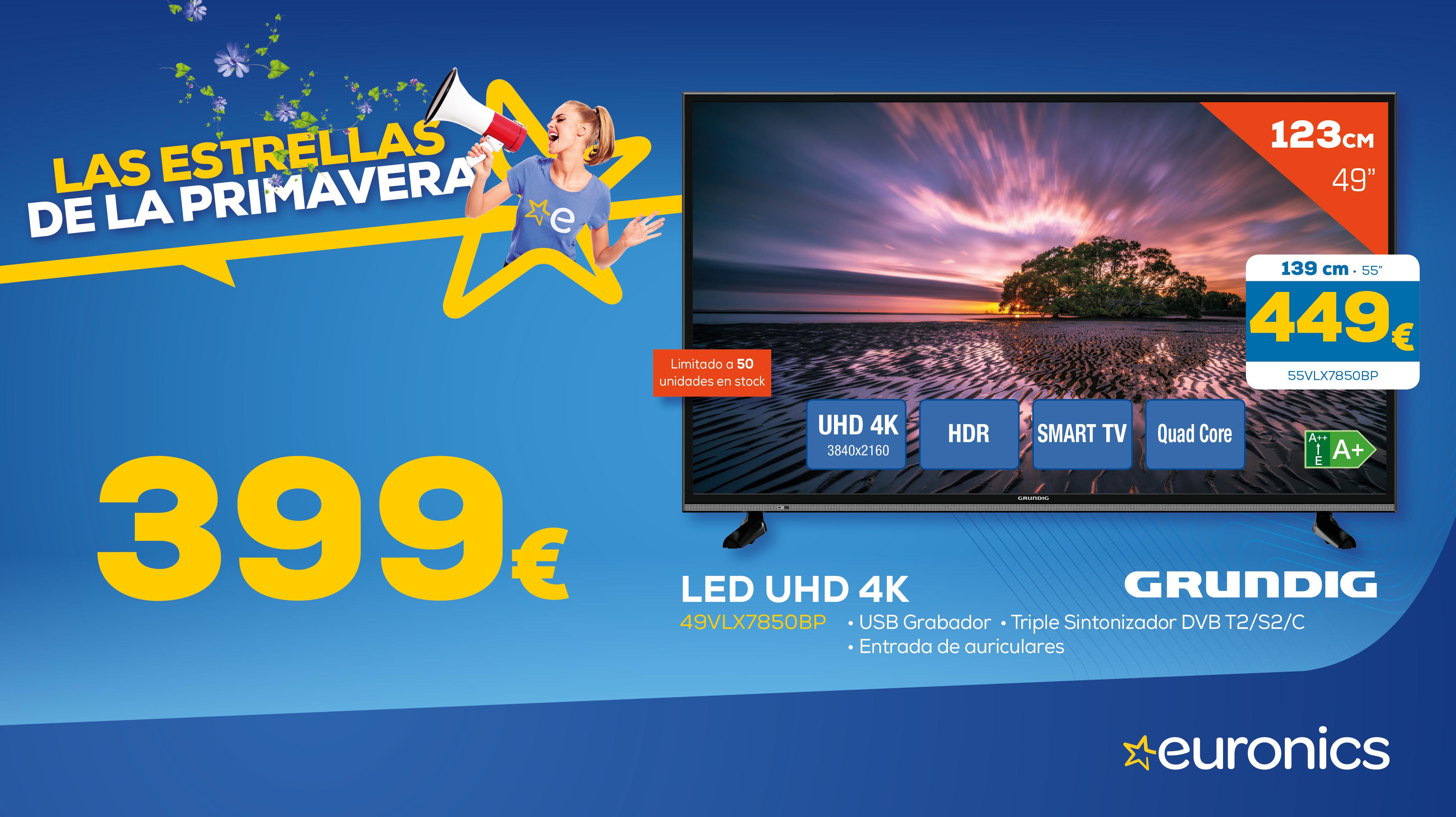 Telvisor Grundig Led UHD 4 K 449€
