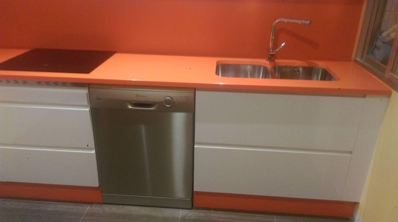 Fregadero y lavavajillas de cocina particular