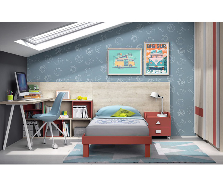 Dormitorios juveniles con cama