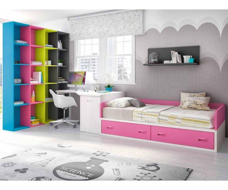 Dormitorios juveniles cama nido