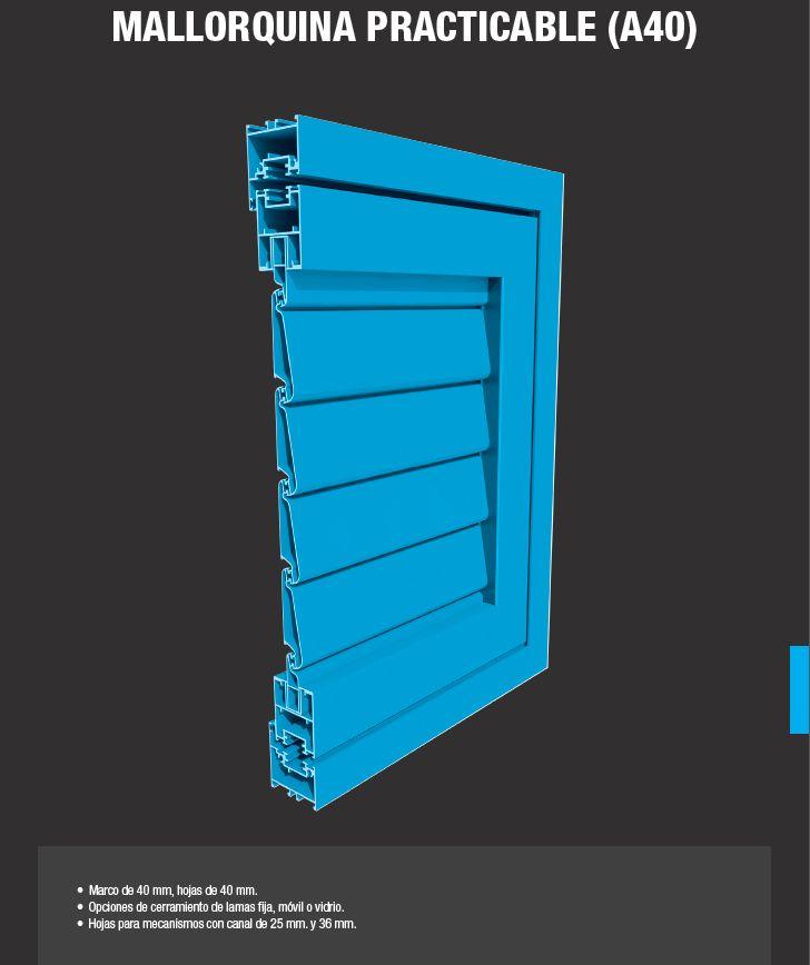 Mallorquina Aluminios Barcelona Practicable A40: Productos de Catal Pur