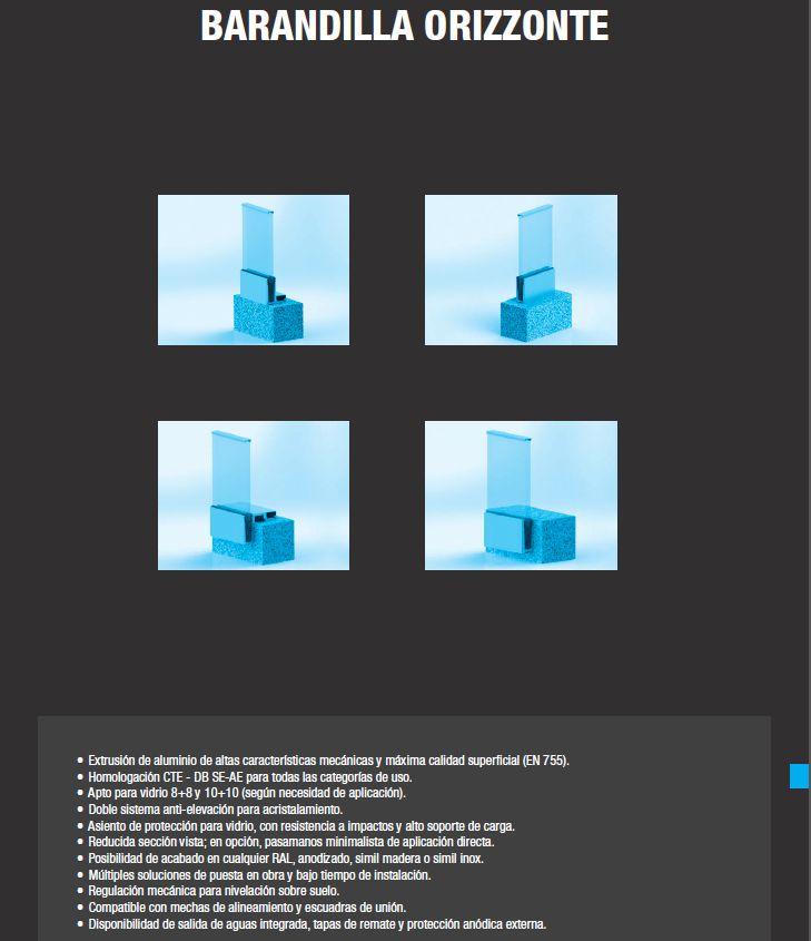 Barandilla Orizzonte: Productos de Catal Pur