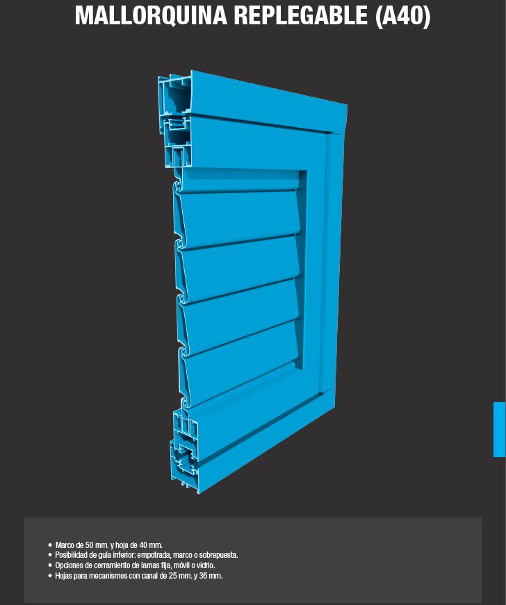 Mallorquina Aluminios Barcelona Replegable A40: Productos de Catal Pur