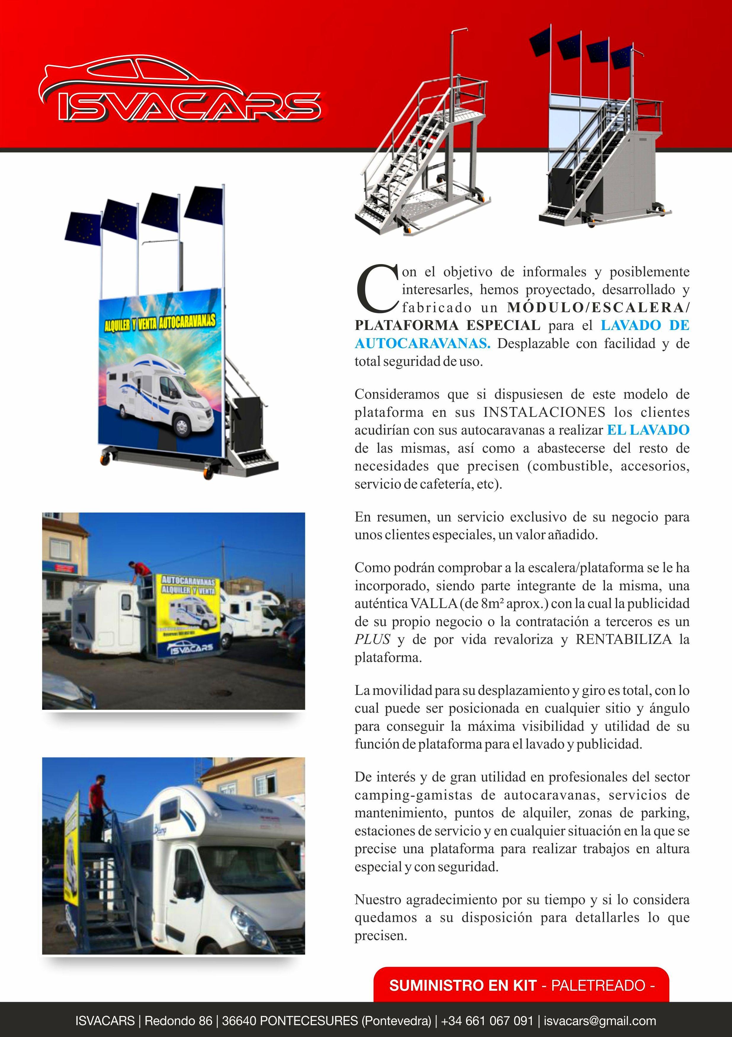Escalera/Plataforma: Servicios de Isvacars Talleres