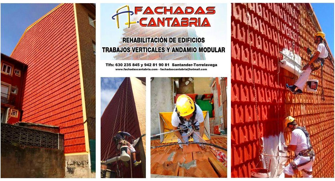 Reforma de fachada de tejas Santander.