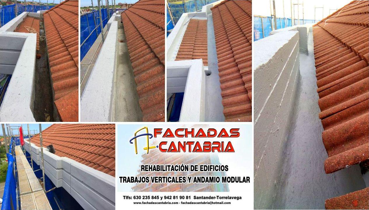 reparación de humedades en canalones y pesebrones Torrelavega