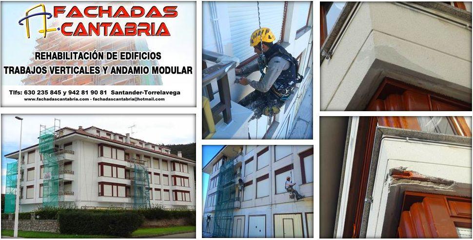Rehabilitación de fachada de mortero monocapa.