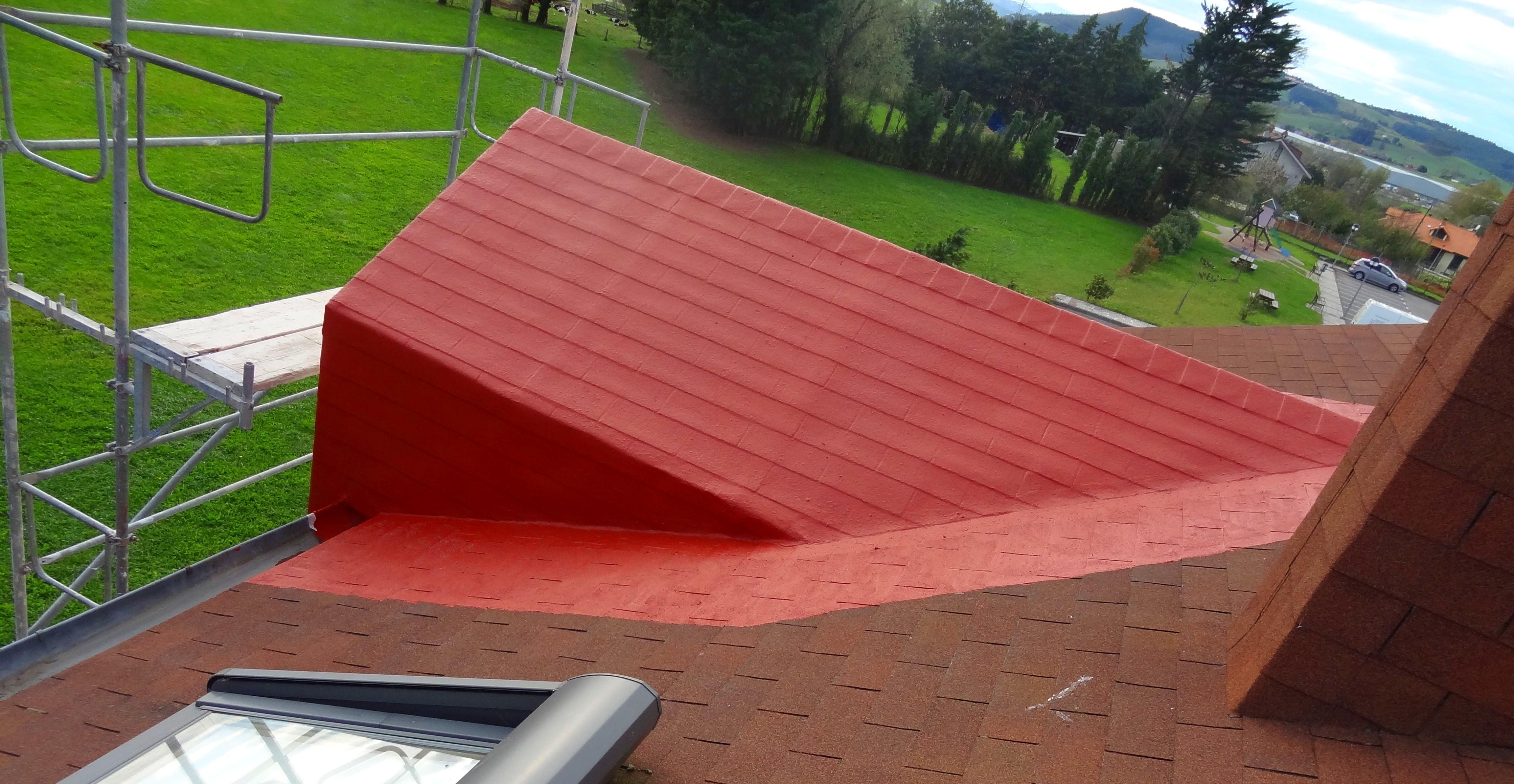 Impermeabilización de cubierta y galería con fibra geotextil
